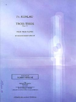 Trois Trios Opus 13 Friedrich Kuhlau Partition laflutedepan