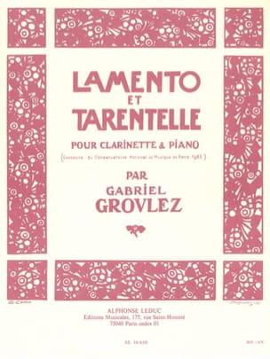 Lamento et Tarentelle Gabriel Grovlez Partition laflutedepan