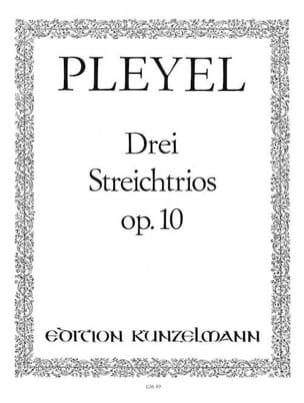 3 Streichtrios op. 10 -Stimmen Ignaz Pleyel Partition laflutedepan