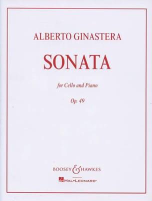 Sonate op. 49 GINASTERA Partition Violoncelle - laflutedepan