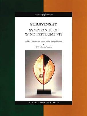 Igor Stravinsky - Symphony of wind instruments - Score - Partition - di-arezzo.com