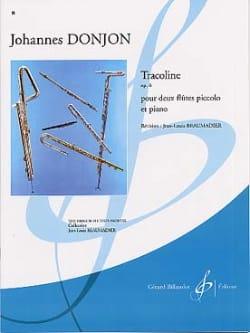 Tracoline op. 6 Johannes Donjon Partition Trios - laflutedepan