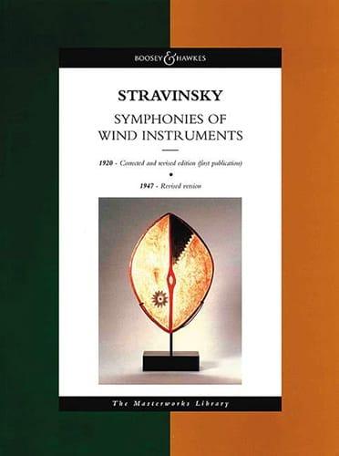Symphonie of wind instruments - Score - STRAVINSKY - laflutedepan.com