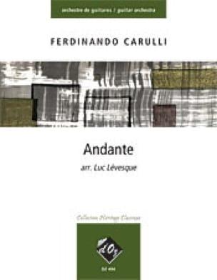 Andante - Ferdinando Carulli - Partition - Guitare - laflutedepan.com