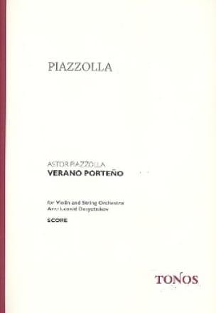 Verano Porteno - Astor Piazzolla - Partition - laflutedepan.com
