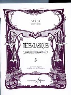 Pièces Classiques Volume 3 - Violon Patrice Sciortino laflutedepan