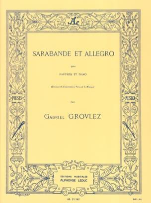 Sarabande et Allegro Gabriel Grovlez Partition Hautbois - laflutedepan