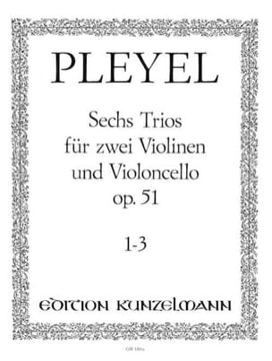 6 Trios op. 51 - Bd. 1 : Nr. 1-3 -2 Violinen u. Violoncello - Stimmen laflutedepan