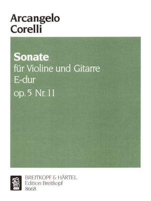 Sonate op. 5 n° 11 - Violine Gitarre CORELLI Partition laflutedepan