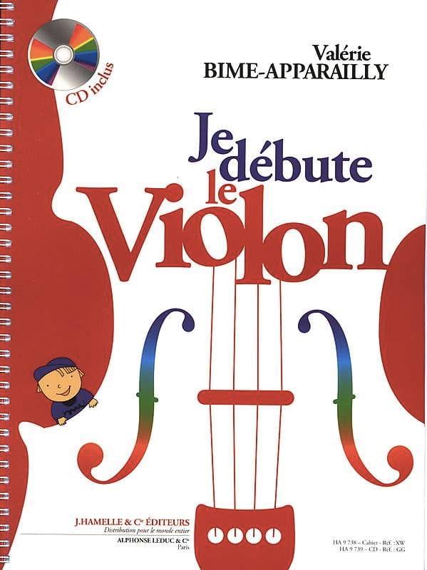 Je Débute le Violon - Valérie Bime-Apparailly - laflutedepan.com