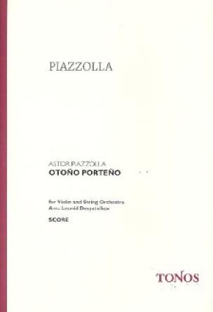 Otono Porteno - Astor Piazzolla - Partition - laflutedepan.com