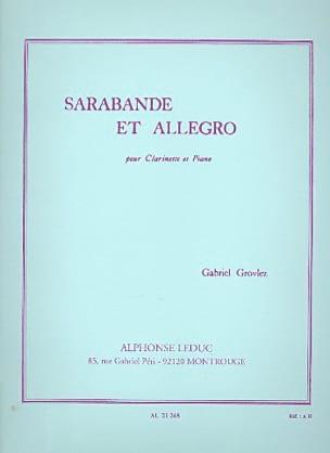 Sarabande et Allegro - Clarinette Gabriel Grovlez laflutedepan