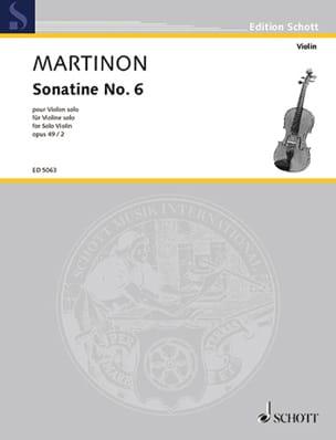 Sonatine n° 6, op. 49 n° 2 - Jean Martinon - laflutedepan.com