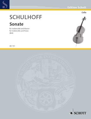 Sonate 1914 - Cello Erwin Schulhoff Partition laflutedepan