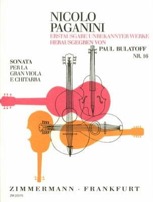 Sonata per la Gran Viola e Chitarra PAGANINI Partition laflutedepan