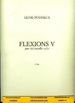 Flexions 5 Henri Pousseur Partition Violoncelle - laflutedepan