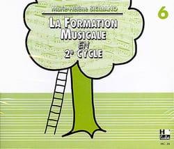 CD / la Formation Musicale En 2ème Cycle Vol.6 SICILIANO laflutedepan