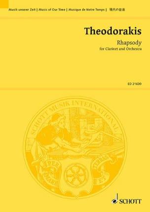 Rhapsody THEODORAKIS Partition Grand format - laflutedepan