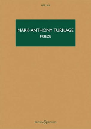Frieze Mark-Anthony Turnage Partition Grand format - laflutedepan