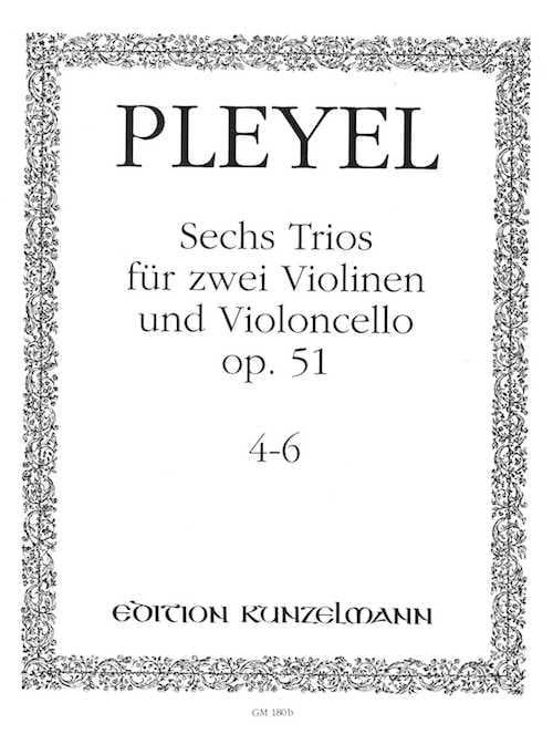 6 Trios op. 51 - Bd. 2 : Nr. 4-6 -2 Violinen u. Violoncello - Stimmen - laflutedepan.com