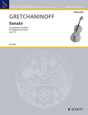 Sonate violoncelle op. 113 Alexandre Gretchaninov laflutedepan
