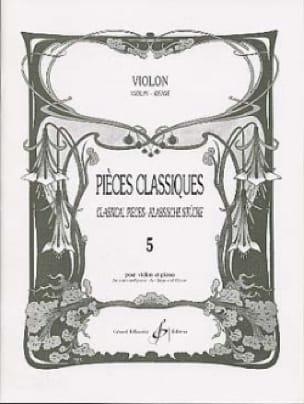 Pièces Classiques Volume 5 - Violon - laflutedepan.com