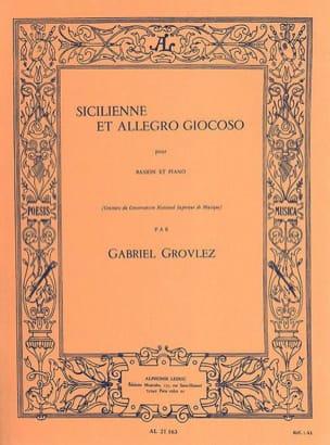 Sicilienne et Allegro giocoso Gabriel Grovlez Partition laflutedepan