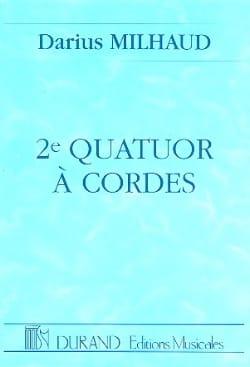 Darius Milhaud - String Quartet No. 2 - Conductor - Partition - di-arezzo.com