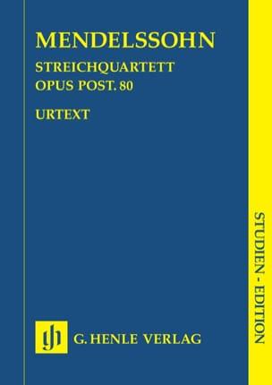 Quatuor à cordes en fa mineur op. post. 80 MENDELSSOHN laflutedepan