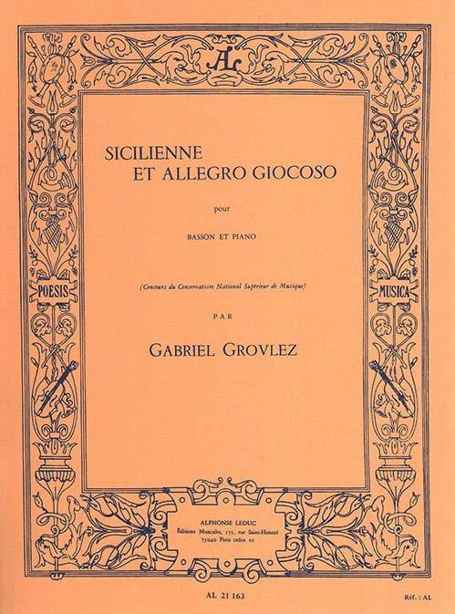 Sicilienne et Allegro giocoso - Gabriel Grovlez - laflutedepan.com