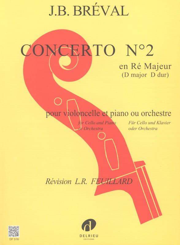 Concerto N° 2 en Ré Majeur - Jean-Baptiste Bréval - laflutedepan.com