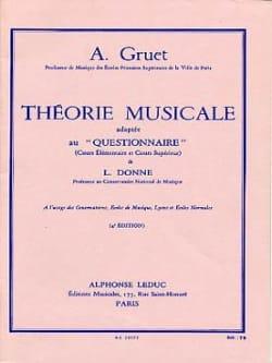 Théorie musicale A. Gruet Partition Théories - laflutedepan
