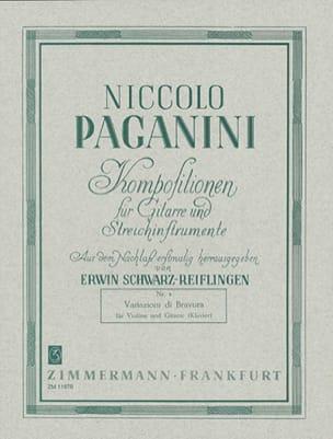 Variazioni di Bravura - PAGANINI - Partition - 0 - laflutedepan.com