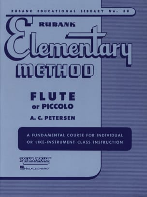 Elementary method - Flute or piccolo A. C. Petersen laflutedepan