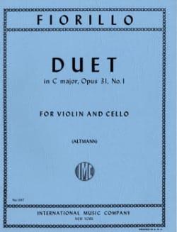 Duet in C major op. 31 n° 1 Frederigo Fiorillo Partition laflutedepan