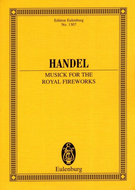 Musique Pour les Feux D'artifices Royaux Hwv.351 - laflutedepan.com