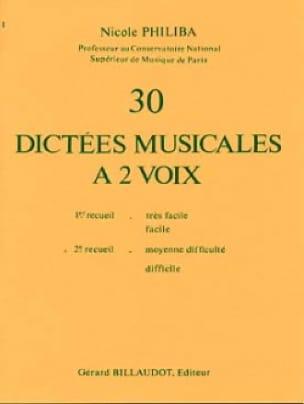 30 Dictées musicales à 2 voix - Volume 2 - laflutedepan.com