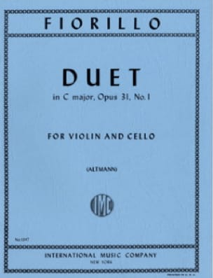 Duet in C major op. 31 n° 1 - Frederigo Fiorillo - laflutedepan.com