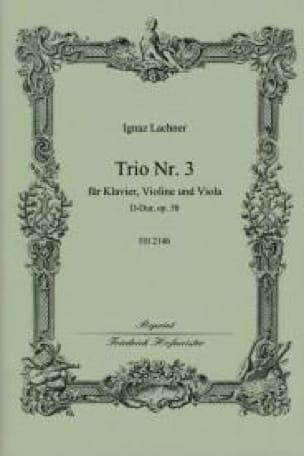 Trio Nr. 3 D-Dur op. 58 - Ignaz Lachner - Partition - laflutedepan.com