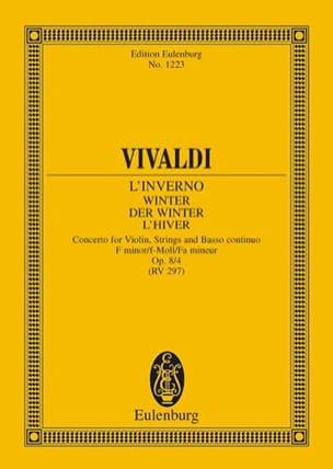 VIVALDI - Die vier Jahreszeiten, op. 8/4 - Partition - di-arezzo.co.uk