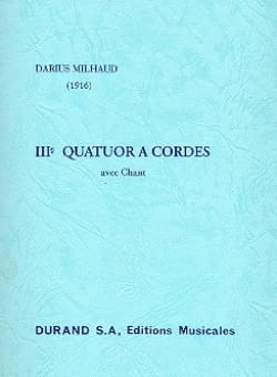 Quatuor à cordes n° 3 - Conducteur MILHAUD Partition laflutedepan