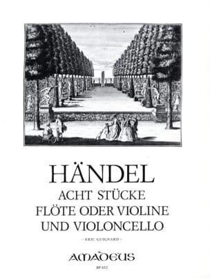8 Stücke - Flöte o. Violine und Violoncello HAENDEL laflutedepan