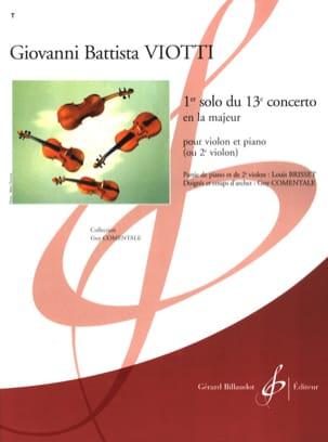 Giovanni Battista Viotti - 1st Solo of the Concerto n ° 13 - Partition - di-arezzo.com
