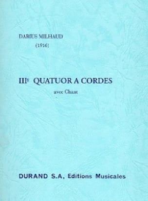 Quatuor à cordes n° 3 - Conducteur - MILHAUD - laflutedepan.com