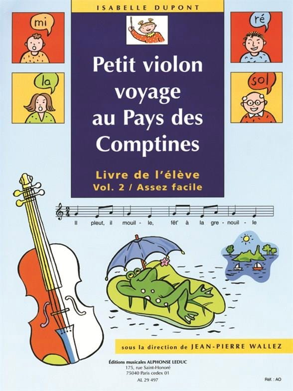 Petit violon au Pays des Comptines, Volume 2 - laflutedepan.com