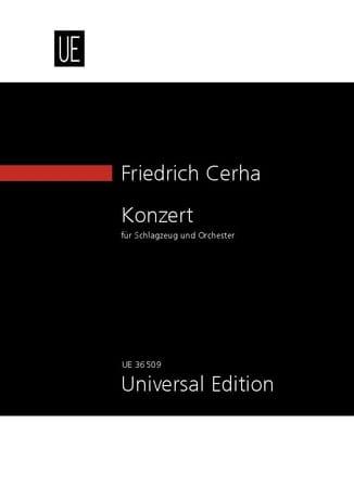 Schlagzeug-Konzert - Conducteur - Friedrich Cerha - laflutedepan.com