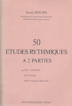 50 Etudes rythmiques - Volume 1 Nicole Philiba Partition laflutedepan