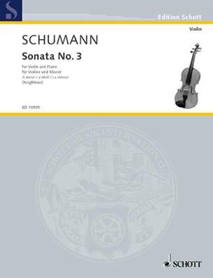 Sonata n° 3 a-Moll SCHUMANN Partition Violon - laflutedepan