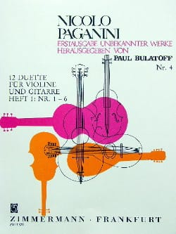 12 Duos - Volume 1 PAGANINI Partition 0 - laflutedepan