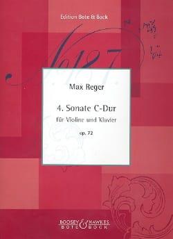 Sonate n° 4 C-dur op. 72 Max Reger Partition Violon - laflutedepan